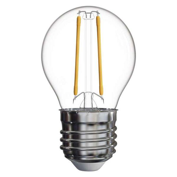 Retro LED žárovka E27  2W 250lm G45 teplá, filament, ekvivalent 25W