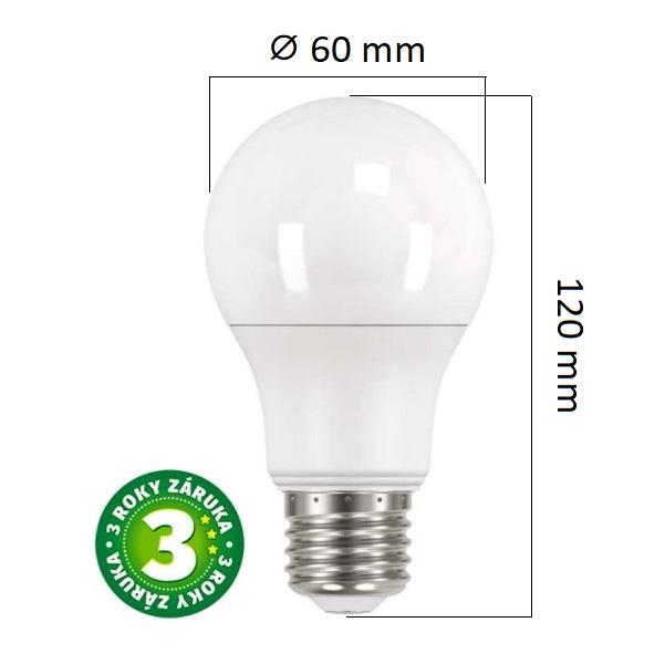 LED žárovka E27 10,5W 1060lm teplá, ekvivalent 75W