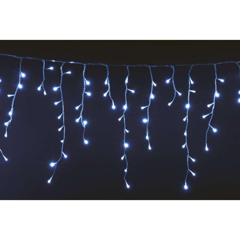 LED vánoční řetěz krápníky 6W studené světlo, 3m, voděodolný, 8 programů