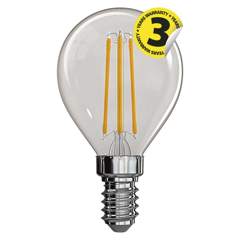 Retro LED žárovka E14 4W 465lm G45  denní, filament, ekvivalent 40W