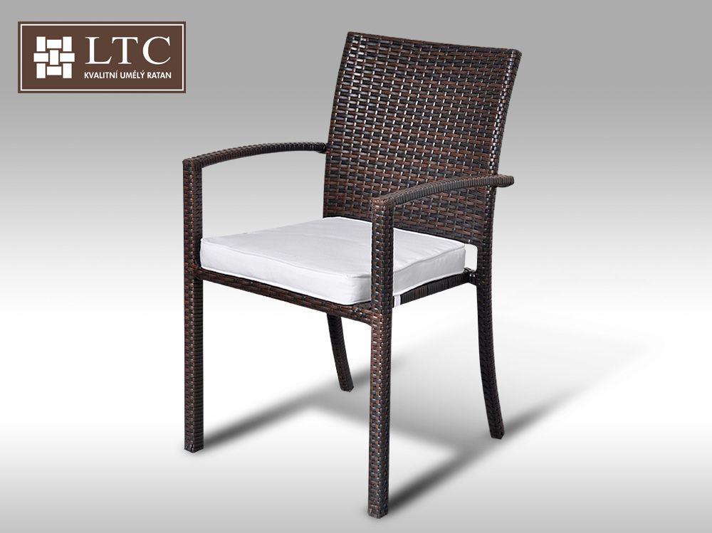 Židle z umělého  ratanu Armino hnědá VZHLEDOVÉ VADY