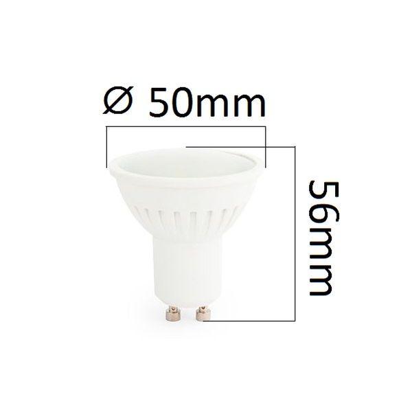 Akce: LED žárovka GU10 7W 630lm teplá 3+1