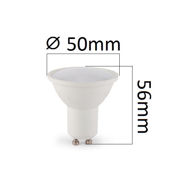 Akce: LED žárovka GU10 5W 480lm teplá 3+1