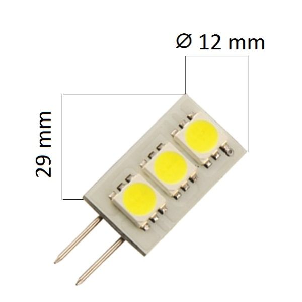 LED žárovka G4 0,6W 40lm teplá, ekvivalent 5W
