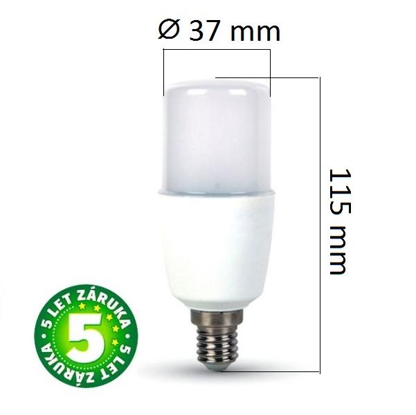 Prémiová LED žárovka E14 SAMSUNG čipy 8W 725lm, studená