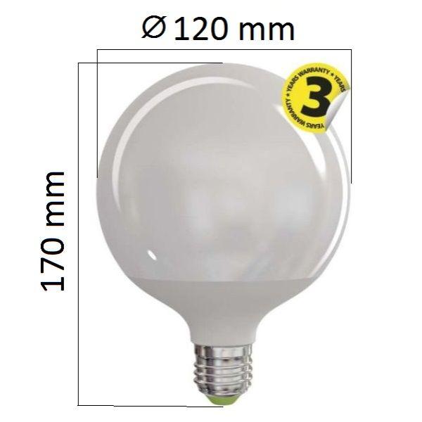 Akce: LED žárovka E27 18W 1521lm G120 denní 3+1