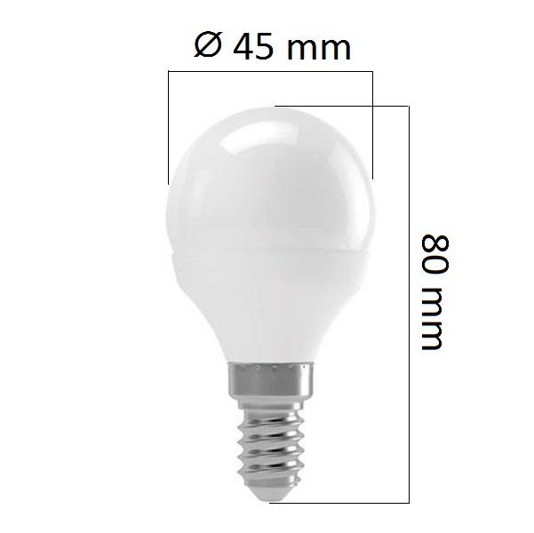 Akce: LED žárovka E14 8W 700lm G45 teplá 3+1