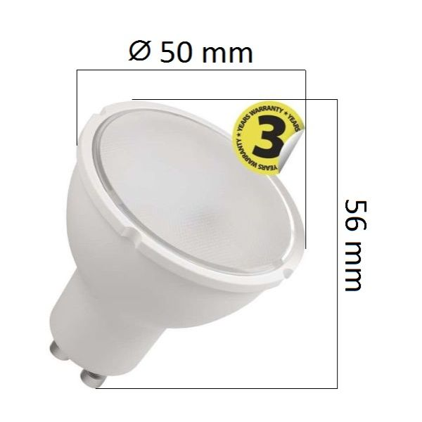 Akce: LED žárovka GU10 8W 720lm teplá 3+1