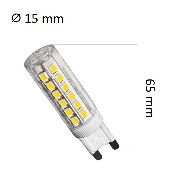 Stmívatelná LED žárovka G9 6W 600lm teplá, ekvivalent 48W