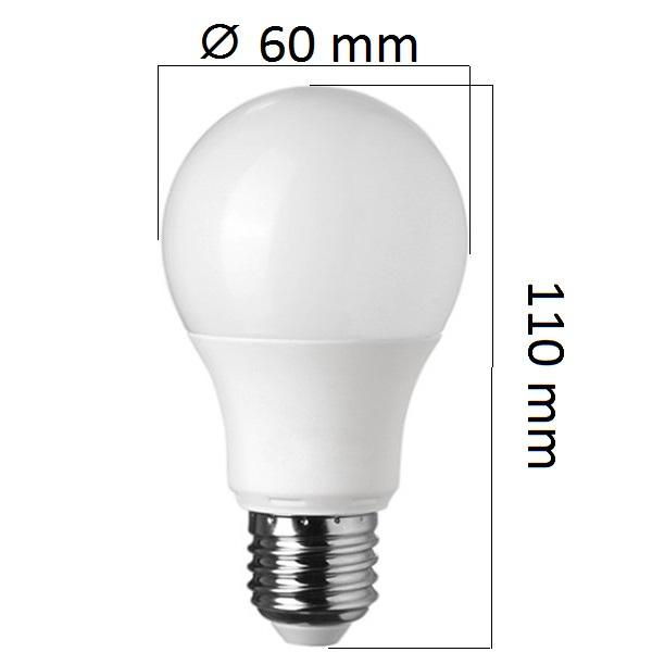 Stmívatelná LED  žárovka E27 10W 800lm, studená, ekvivalent 60W