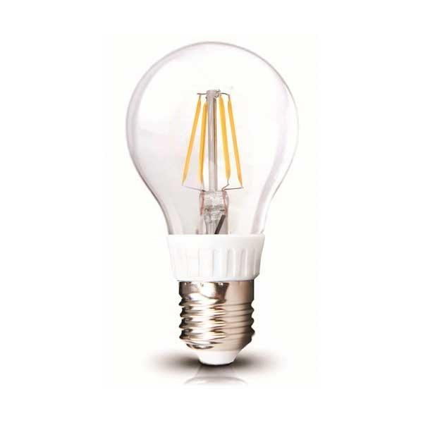 Retro LED žárovka E27 4W 400lm, teplá, filament, ekvivalent 40W