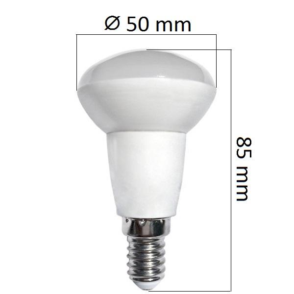 LED  žárovka E14 5W 400lm R50  teplá, ekvivalent  32W