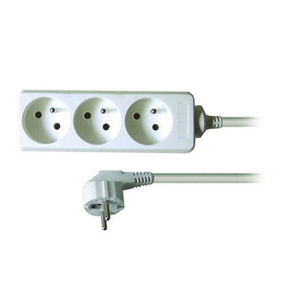 Prodlužovací kabel - 3 zásuvky, 7m, bílý