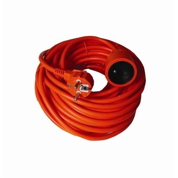 Prodlužovací kabel - spojka, 1 zásuvka, 20m, 3 x 1,5mm2, oranžový