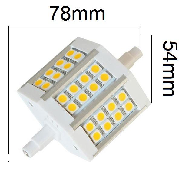 LED žárovka R7s 5W 450lm teplá, ekvivalent 43W