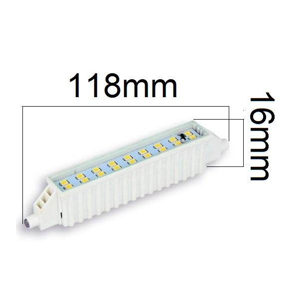 LED žárovka R7s 6W 500lm studená,  ekvivalent 46W