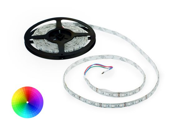 RGB LED pásek 60x5050 smd vícebarevný, 10,8W/m, délka 5m