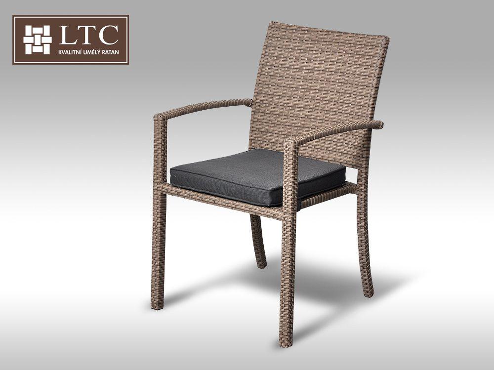 Židle  z  umělého  ratanu Armino šedobéžová VZHLEDOVÉ VADY