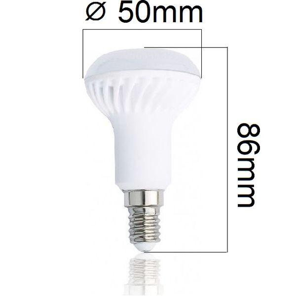 LED žárovka Tesla E14 5W 350lm teplá R50, ekvivalent 34W