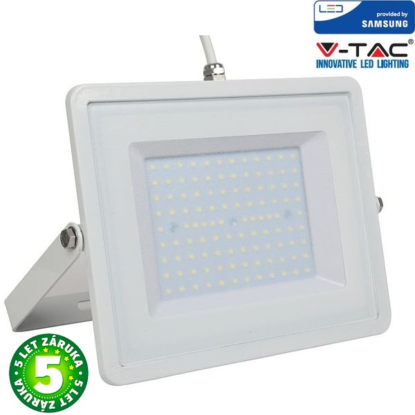 Prémiový ultratenký LED reflektor 100W 8000lm SAMSUNG čipy bílý, teplá