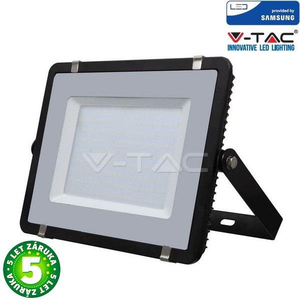 Prémiový ultratenký LED reflektor 200W 16000lm SAMSUNG čipy černý, studená