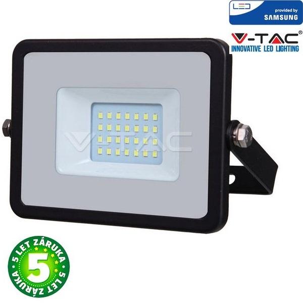 Prémiový ultratenký LED reflektor 20W 1600lm SAMSUNG čipy černý, denní
