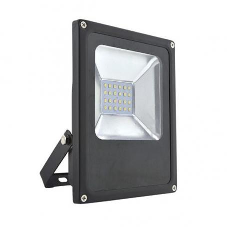 Ultratenký LED venkovní reflektor, 20W, 1200lm, studený, černý