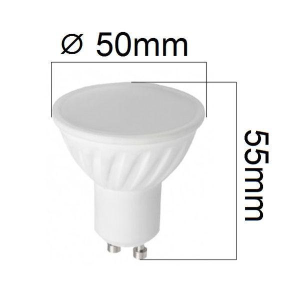 LED žárovka GU10 8W 560lm studená, ekvivalent 52W