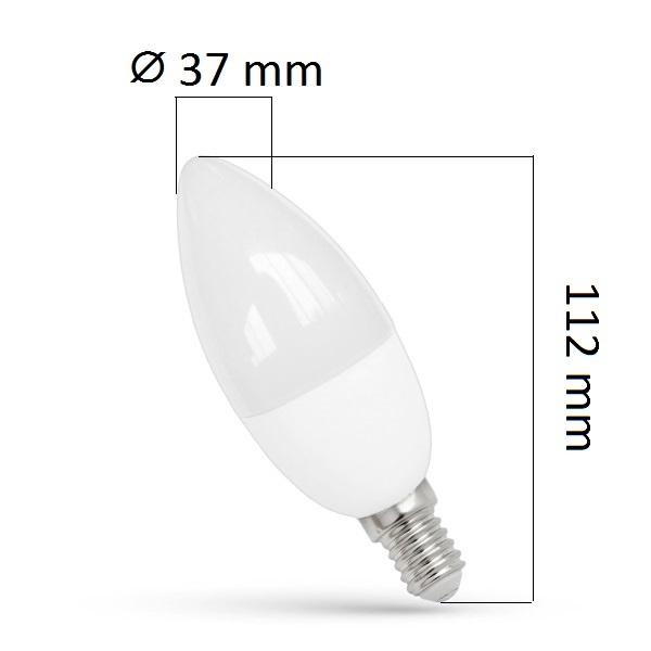Akce: LED žárovka  E14 8W 680lm, studená 3+1