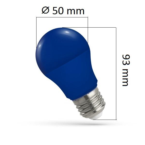 Barevná LED žárovka E27 5W modrá