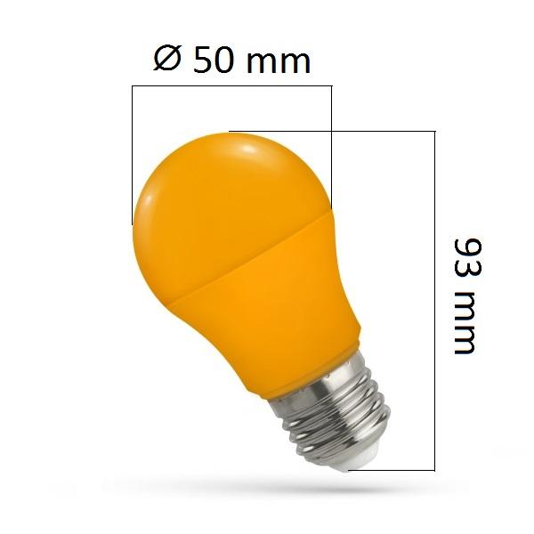 Barevná LED žárovka E27 5W oranžová