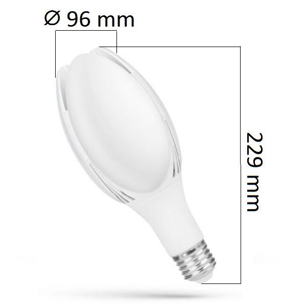 LED žárovka E27 50W 5200lm, denní, ekvivalent 200W