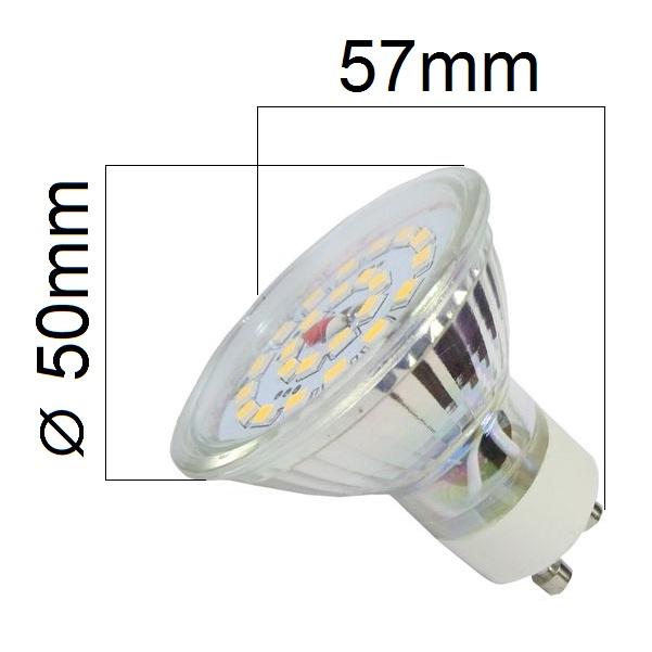 Akce: LED žárovka GU10 4W 350lm teplá 3+1